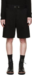 Givenchy Black Distressed Denim Shorts