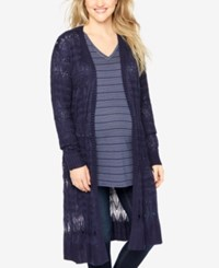 Motherhood Maternity Open Front Cardigan Navy
