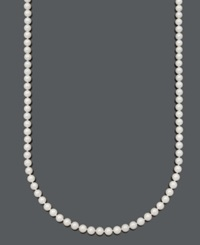 Belle De Mer Pearl Necklace 36' 14K Gold A Cultured Freshwater Pearl Strand 6 7Mm