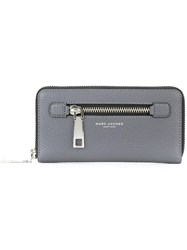 Marc Jacobs Large 'Gotham' Zip Around Wallet Grey