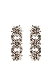 Shourouk Crystal Embellished Clip On Drop Earrings