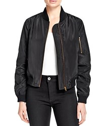 Aqua Bomber Jacket Black