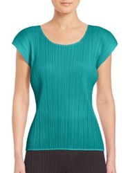 Issey Miyake Monthly Colors Pleated Tee Green