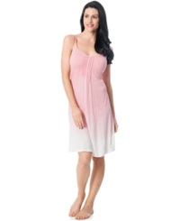Motherhood Maternity Bump In The Night Maternity Ombre Nursing Nightgown Flamingo