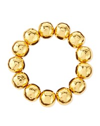 Hammered Gold Plated Bead Bracelet Nest Jewelry