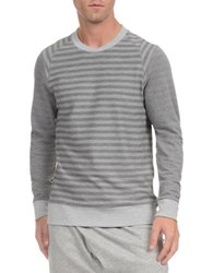 2Xist Terry Trim Fit Crewneck Sweatshirt Light Grey Heather