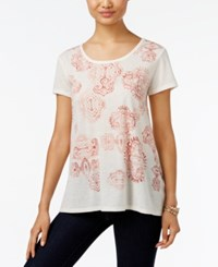 Styleandco. Style Co. Petite Graphic Print T Shirt Only At Macy's White Heat