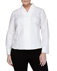 Go Silk Pleated Poplin Blouse White