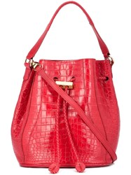 Khirma Eliazov 'Edem' Mini Bucket Bag Red