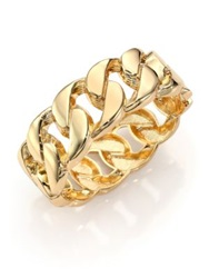 Kenneth Jay Lane Curb Chain Bangle Bracelet Gold