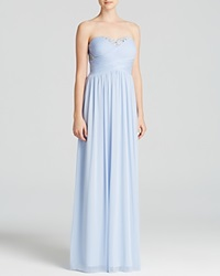 Decode 1.8 Gown Strapless Embellished Ice Blue