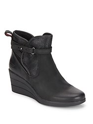 Ugg Uptown Emalie Leather Wedge Boots Black