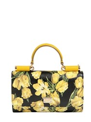 Dolce And Gabbana Tulips Printed Leather Phone Clutch
