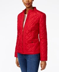 Charter Club Petite Quilted Jacket Only At Macy's New Red Amore