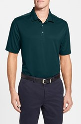 Men's Big And Tall Cutter And Buck 'Glendale' Drytec Moisture Wicking Polo Midnight Green