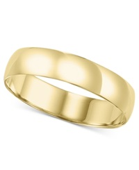 Macy's Men's 14K Gold Ring 5Mm Comfort Fit Wedding Band
