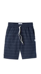 Reigning Champ Striped Terry Sweat Shorts Navy