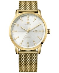 Tommy Hilfiger Men's Casual Sport Gold Tone Stainless Steel Mesh Bracelet 44Mm 1791210