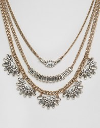 Aldo Giecien Layering Necklaces Gold