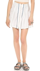 Band Of Outsiders Bandana Print Pleated Skirt Taupe