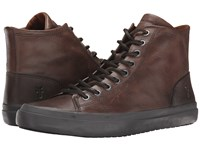 Frye Grand Tall Lace Dark Grey Smooth Vintage Leather Men's Lace Up Casual Shoes Brown