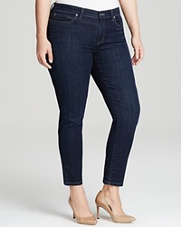 Eileen Fisher Plus Slim Ankle Jeans In Washed Indigo