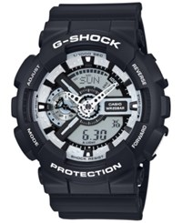 G Shock Men's Analog Digital Black And White Black Bracelet Watch 55X51mm Ga110bw 1A