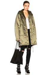 Faith Connexion Sherpa Lined Parka Jacket In Green