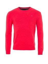 Eden Park Round Neck Cotton Sweater Red
