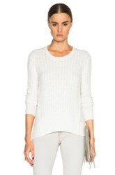 Atm Anthony Thomas Melillo Cable Knit Sweater In White