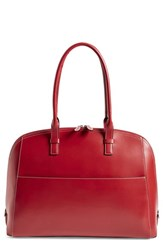Lodis 'Audrey Collection Buffy' Leather Satchel Orange Red