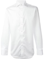 Canali Spread Collar Shirt White