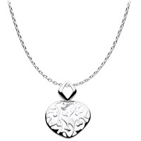 Kit Heath Open Floret Pendant Necklace Silver