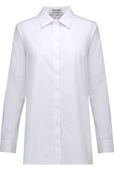 Opening Ceremony Split Back Cotton Poplin Shirt White