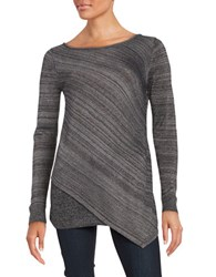 Context Boatneck Pullover Top Black Combo