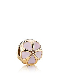 Pandora Design Pandora Clip 14K Gold And Enamel Cherry Blossom Moments Collection Pink Gold