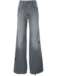 Maison Martin Margiela Mm6 Maison Margiela High Waisted Flared Jeans Grey