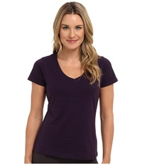 Jockey Cotton Essentials V Neck Tee Eggplant Women's Pajama Purple