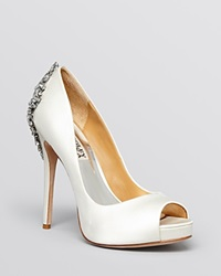 Badgley Mischka Peep Toe Platform Evening Pumps Kiara High Heel