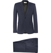 Saint Laurent Navy Slim Fit Virgin Wool Suit