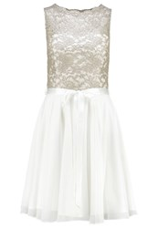Swing Cocktail Dress Party Dress Creme Gold Off White