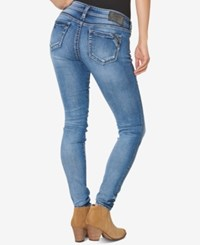 Silver Jeans Co. Aiko Medium Blue Wash Super Skinny Indigo
