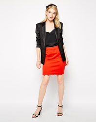 Darling Julia Skirt With Scalloped Hem Red