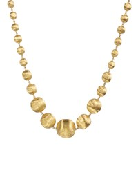 18K Gold Africa Necklace 17' Marco Bicego Brown