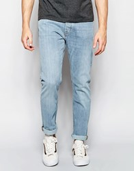 Weekday Wednesday Slim Jeans In Stretch Fun Light Wash Fun Blue