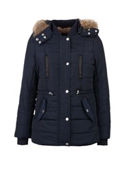Morgan Hooded Down Jacket Navy