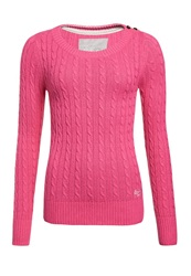 Superdry Croyde Cable Crew Jumper Pink