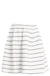Alaia Dotted Skirt White