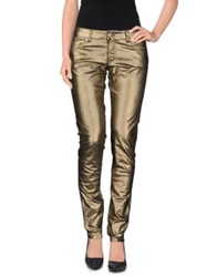 Pinko Grey Denim Pants Bronze