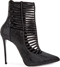 Rene Caovilla Multistrap Studded Ankle Boots Black